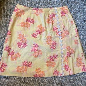 lilly pulitzer ✨ vtg yellow skirt